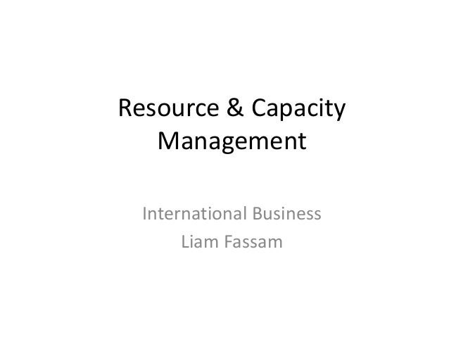 Week 2 resource and capacity planning