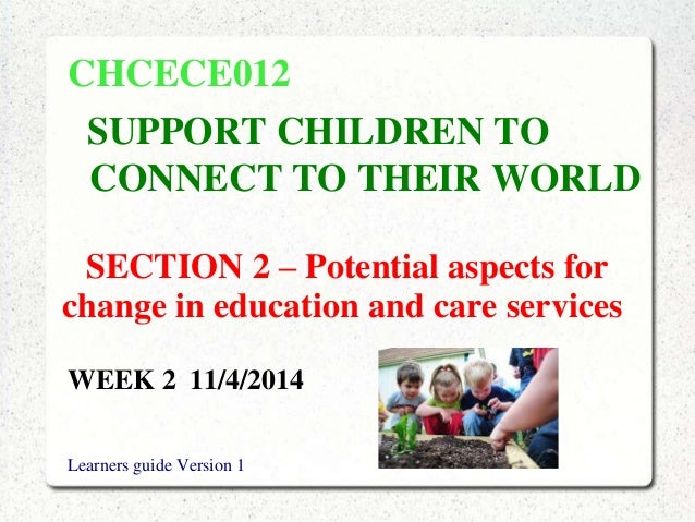 Week 2 support children to connect