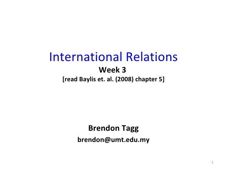 international relation