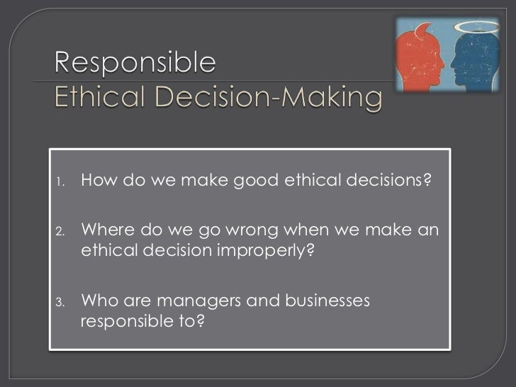 Week 3   ethical decision making