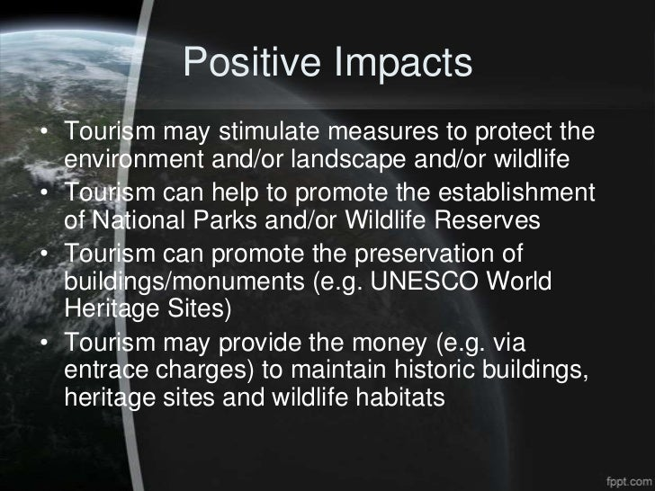 Impact of tourism on the environment?
