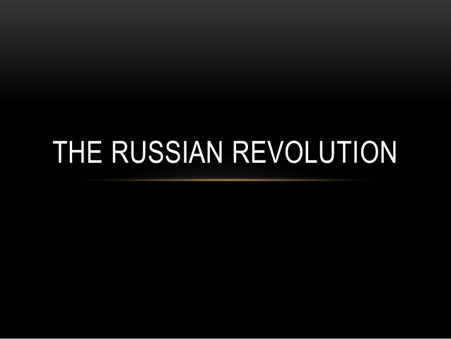 Week 3 - The Russian Revolution