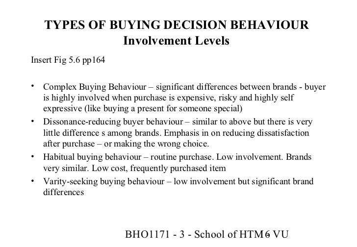 complex buying behaviour Buyer behaviour towards electronic goods significant differences between brands complex buying behaviour variety seeking buying behaviour.