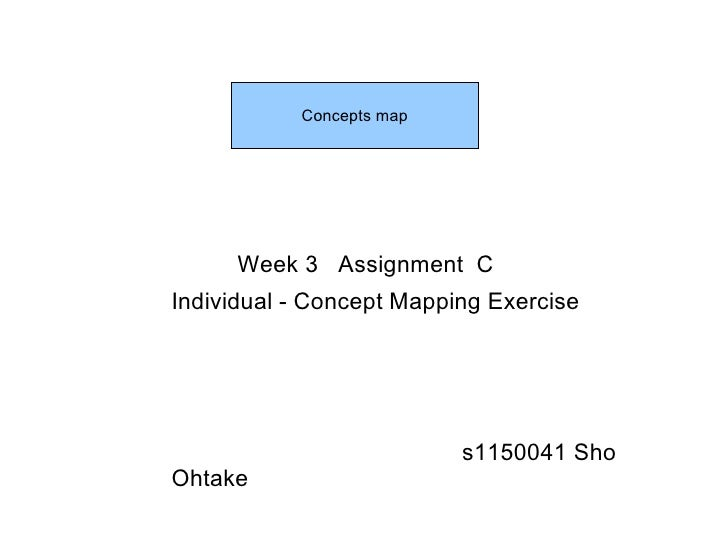 Week 3  Assignment  C Individual - Concept Mapping Exercise s1150041 Sho Ohtake