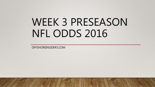 odds nfl week 3 nfl scores odds