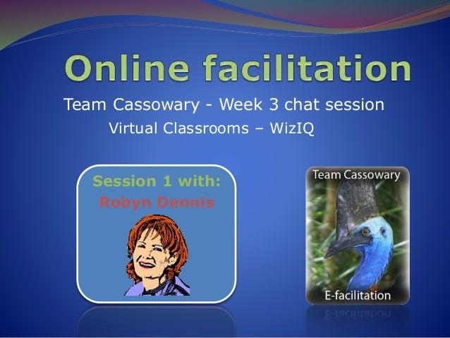 Team Cassowary Week 3 Online Facilitation