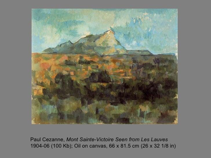 Cezanne Mont Sainte Victoire Seen From Lauves Mont Sainte-victoire Seen