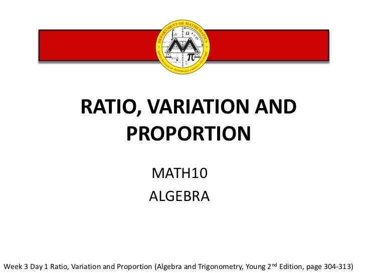 MATH 12 Week3 ratio