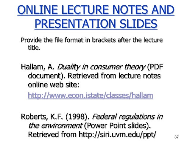 How do you site an online PDF in APA?