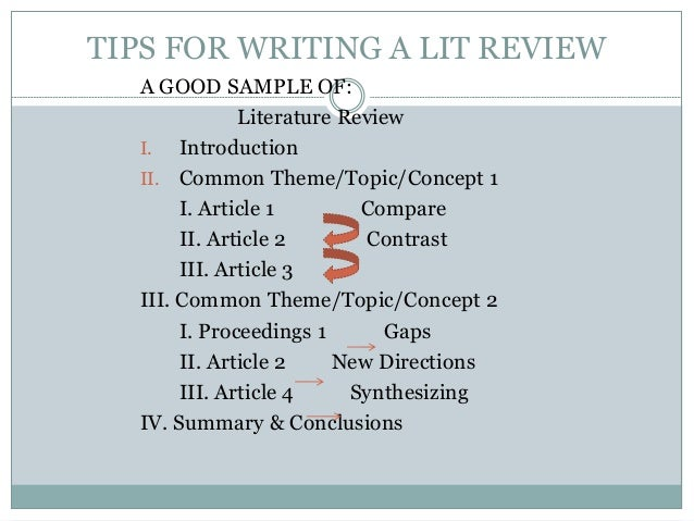 Any tips on writing a literature review??