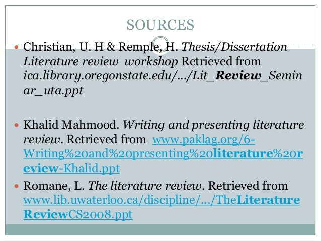 how to write a literature review powerpoint