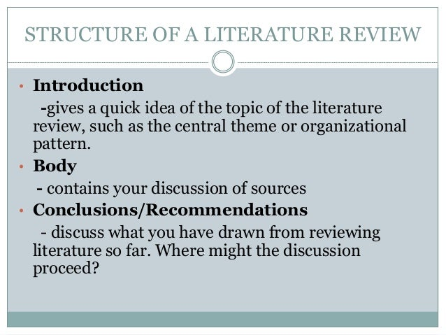 Sources For Literature Review