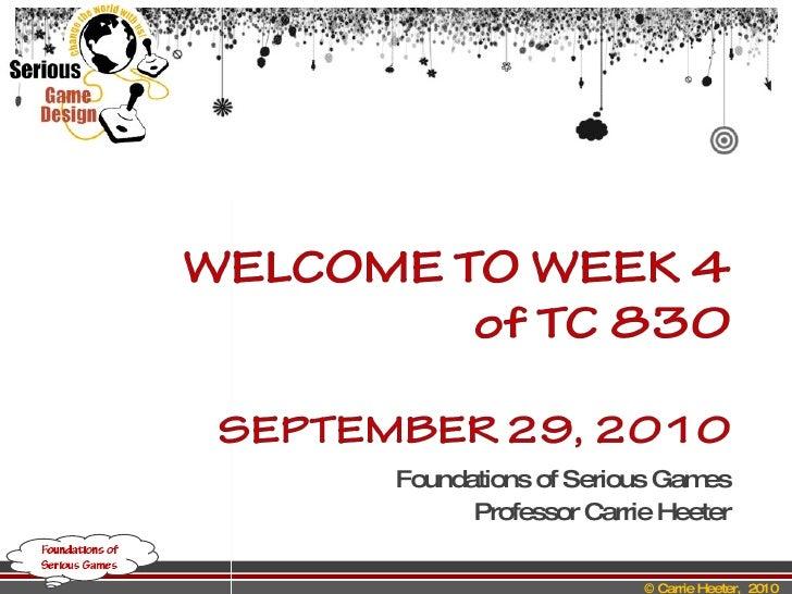 Week 4 class2010