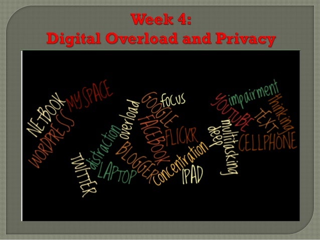 Week 4 Digital Overload and Privacy Summer 2013 HUM140