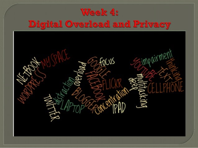 Week 4 digital overload and privacy