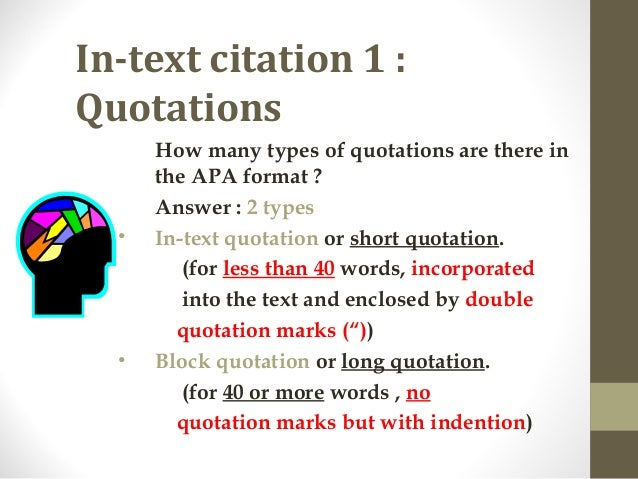 Question on APA style in-text citation?