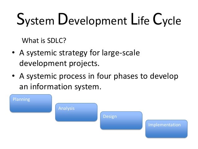 the importance of systems development life cycle in directing and guiding companies in the process o Managing the risks of information systems implementation complex systems by a life-cycle strategy  to carry out the development process is available,.