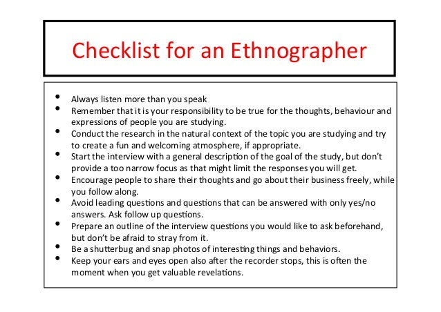 an analysis of ethnography Ethnography (from greek data analysis involves interpretation of the functions and meanings of human actions ethnography, law & society dissertation qualitative.