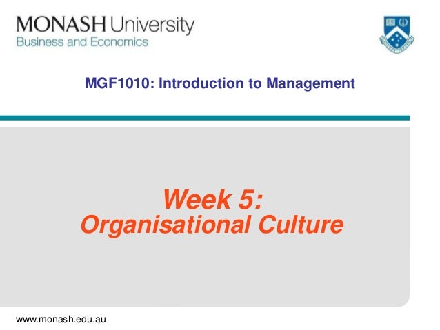 Intro to Management - Week 5
