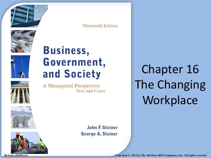 Chapter 16                                   The Changing                                    WorkplaceMcGraw-Hill/Irwin   ...