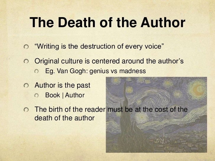 The death of the author essay