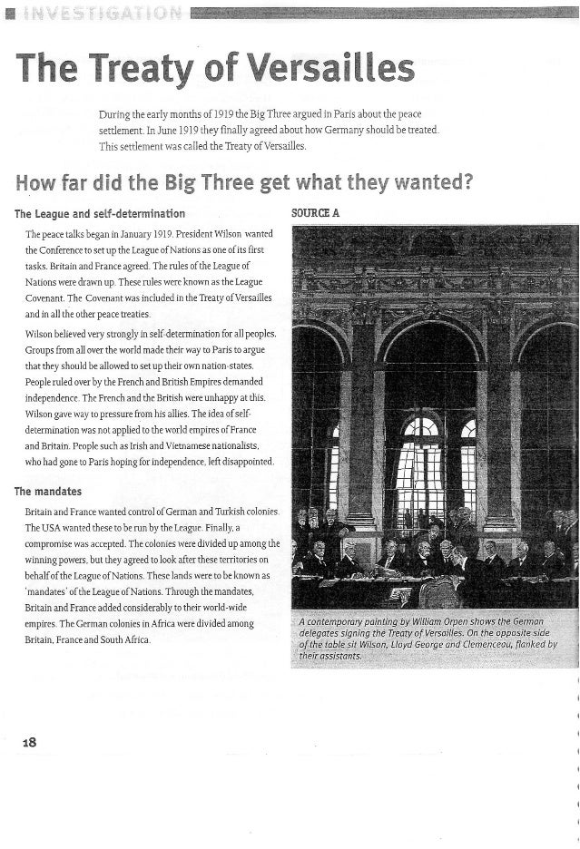 Week 5 WWI and the Treaty of Versailles
