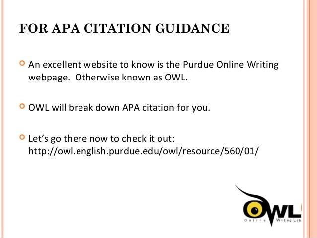 Owl english purdue apa