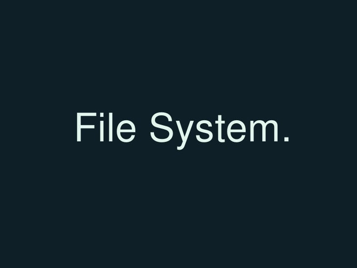 Week6 filesystem