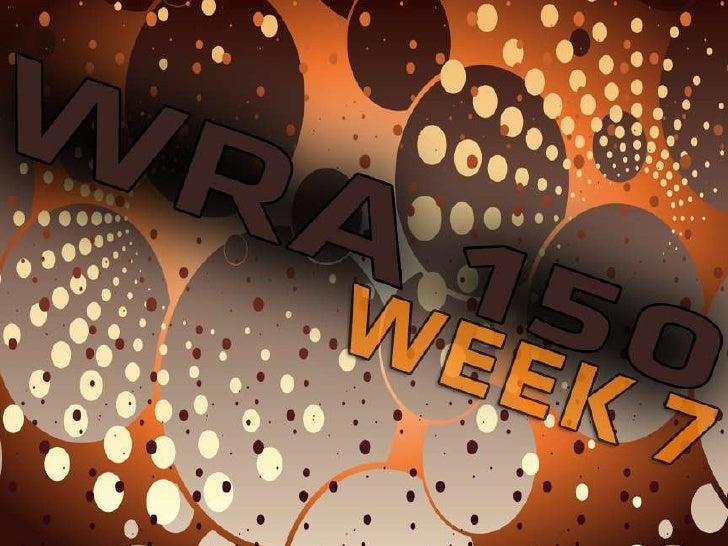 WRA 150 Week 7 Hybrid content