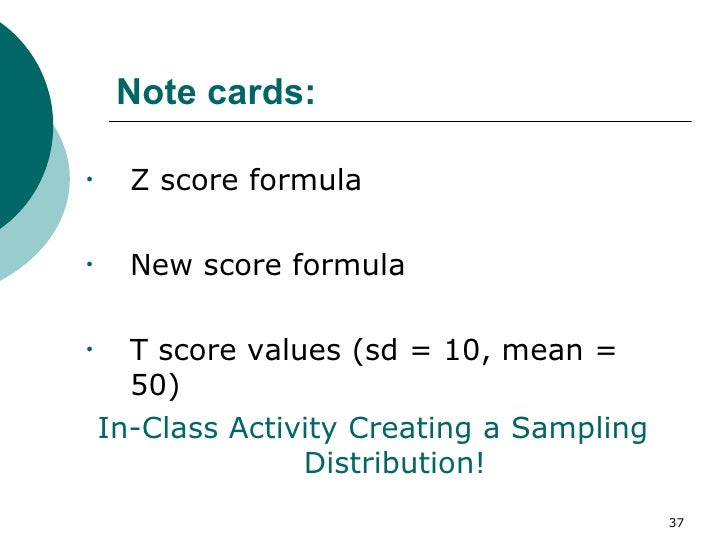 Score Formula For Sample Mean Note cards Z score formulaZ Score Formula For Sample Mean
