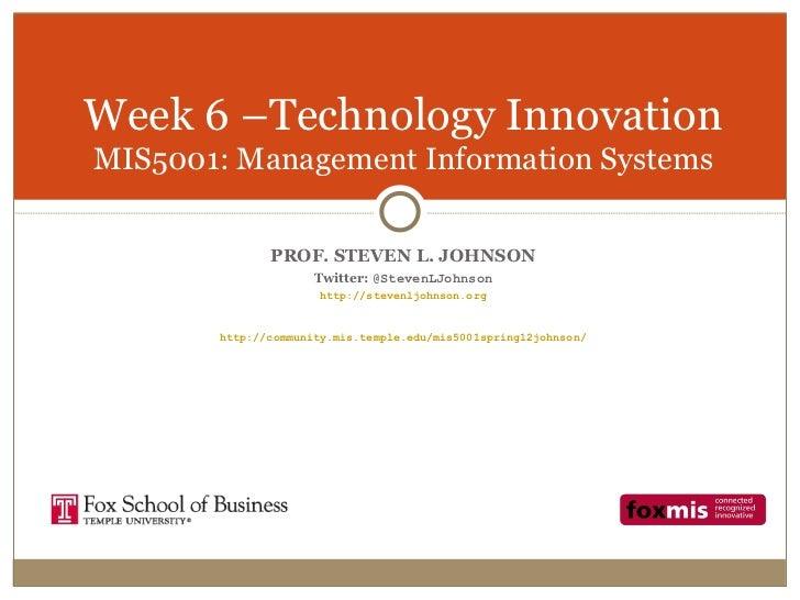 Week 6 - Technology Innovation