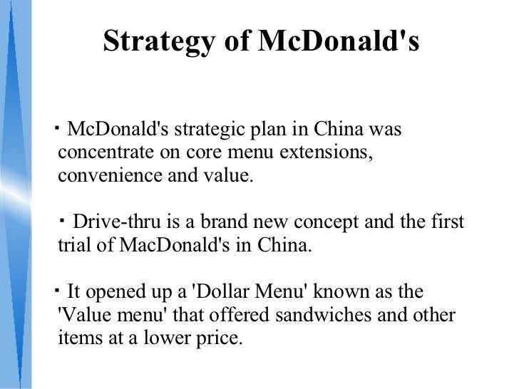 Business plan of mcdonalds
