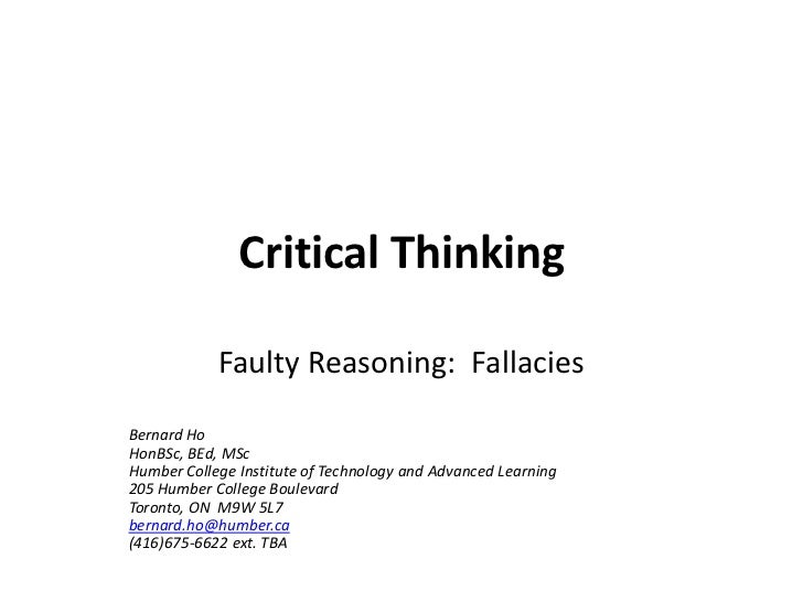 fallacies of critical thinking So, even though the premises[br]of her argument are true she committed the fallacy of composition so, we don't have to worry[br]about any colorless cats so, we just learned about[br]the fallacy of composition, or the error in reasoning.