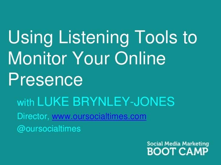 Week 7 Luke Brynley-Jones Presentation