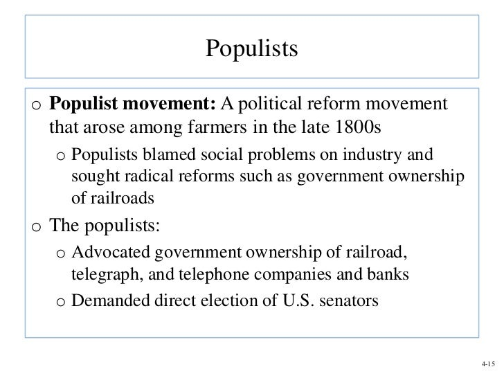"the populist movements failure It was the largest independent black political movement in the south until the rise  of  omar h ali, ""black populism: agrarian politics from the colored alliance to  the  the movement's failure to democratize the region in the face of jim crow."