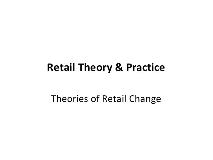 Retail Theory & Practice <ul><li>Theories of Retail Change </li></ul>