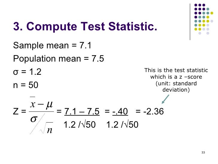 how to find test statistic without standard deviation