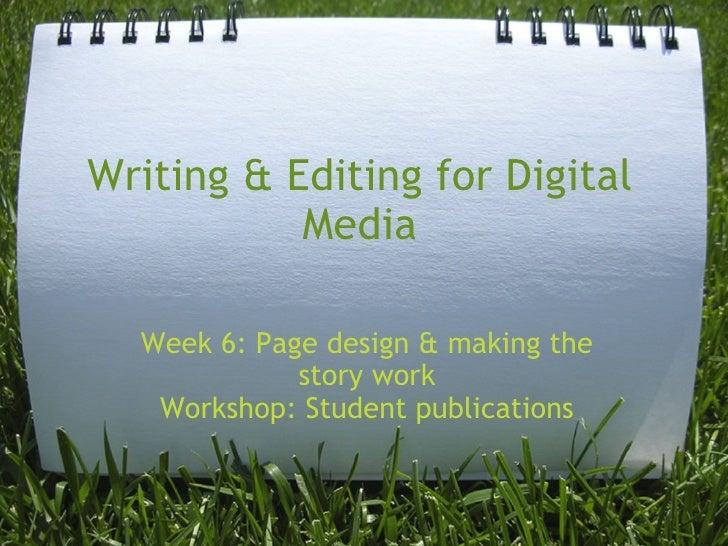 Writing & Editing Week 7
