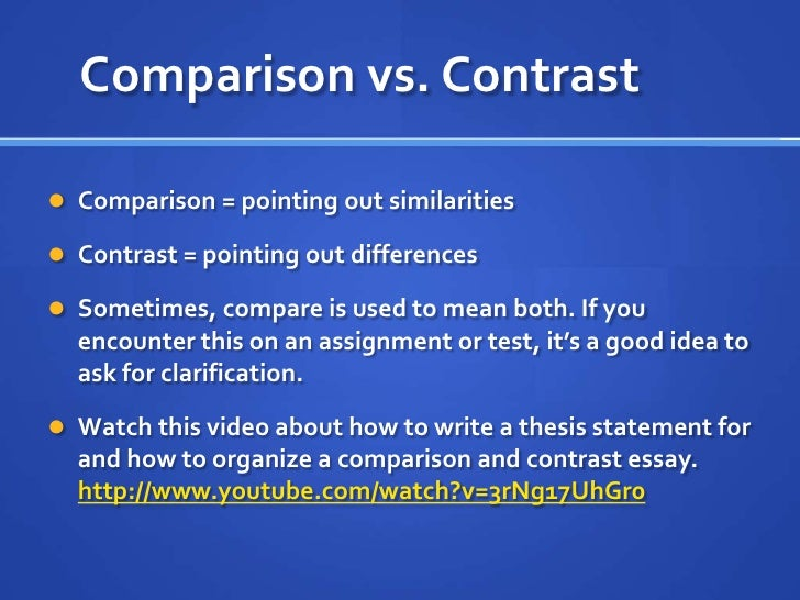 "how to organize a compare and contrast essay It means you can choose compare and contrast essay topics by conducting in- depth  ""before starting the topic, organize the thoughts in a logical manner."