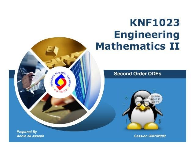 KNF1023                                   Engineering                                Mathematics II                       ...