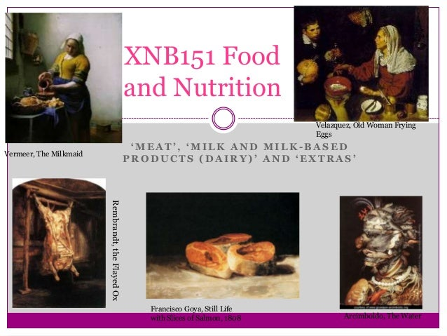 XNB151 Week 8 Meat, dairy and extras