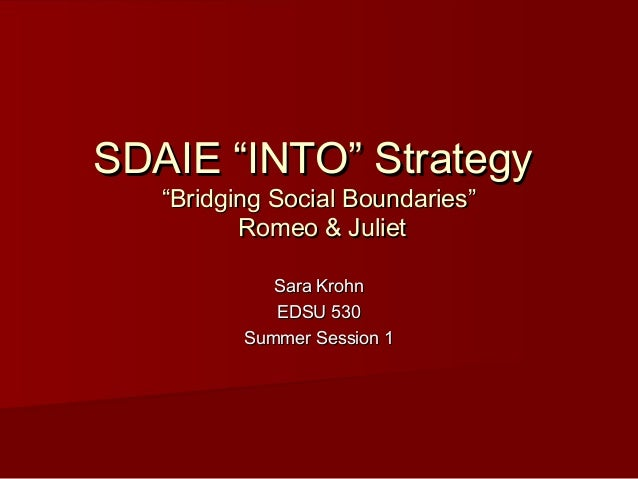 "SDAIE ""INTO"" Strategy Presentation"