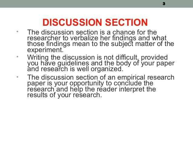 Writing a Research Paper Series: Discussion - ScienceDocs