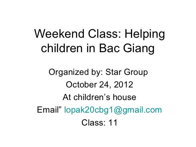 Weekend class