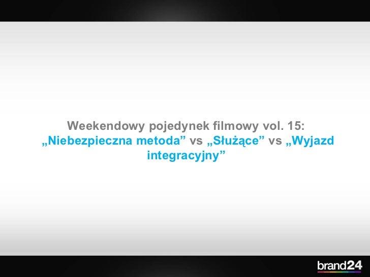 """Weekendowy pojedynek filmowy vol. 15:  """" Niebezpieczna metoda""""  vs  """"Służące""""  vs  """"Wyjazd integracyjny"""""""