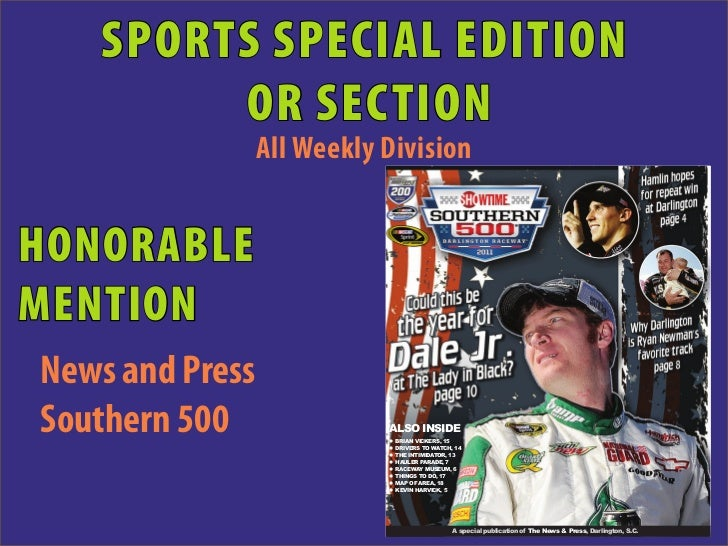 SPORTS SPECIAL EDITION        OR SECTION                 All Weekly Division   p                                          ...