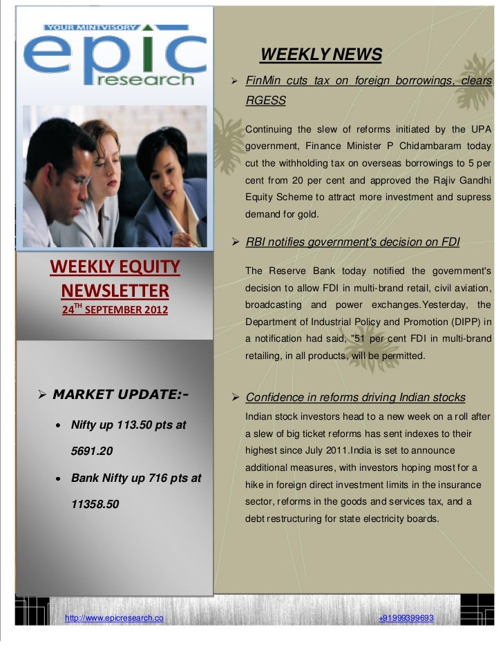 WEEKLY EQUITY REPORT BY EPIC RESEARCH-24 SEPTEMBER 2012