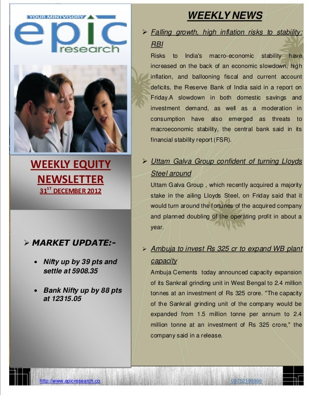 Weekly equity-report