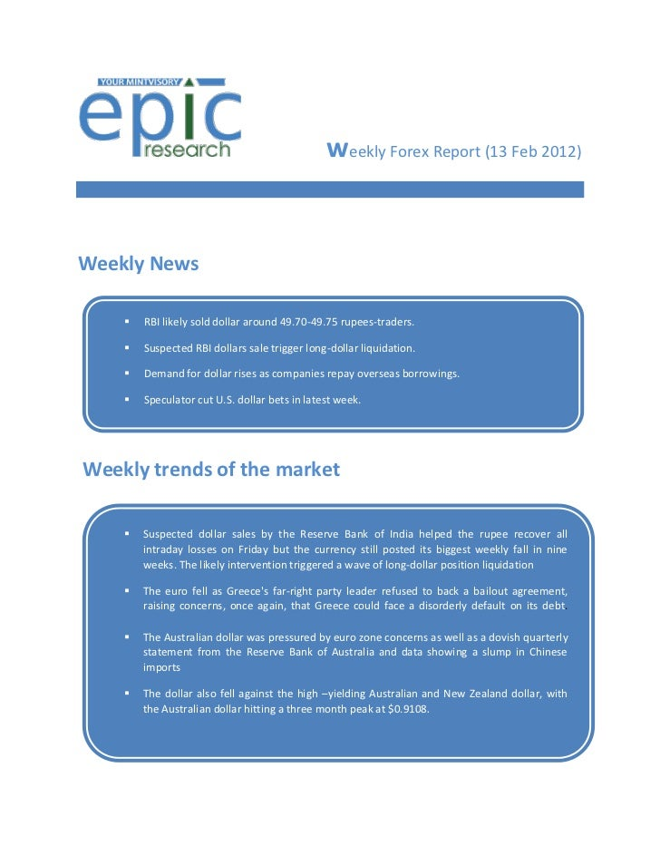 Weekly forex-report by epic research 13-02-2012 to 17-02-2012