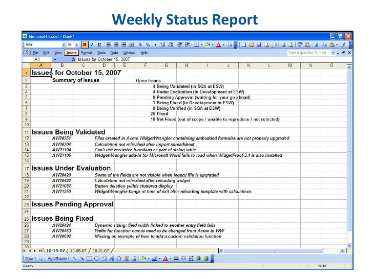 Employee weekly status report template trattorialeondoro best photos of weekly work summary report template work maxwellsz